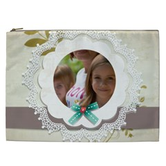 Flower , Kids, Happy, Fun, Green By Jacob   Cosmetic Bag (xxl)   7qxlqpf9rc4u   Www Artscow Com Front