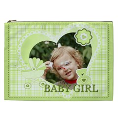 Flower , Kids, Happy, Fun, Green By Jacob   Cosmetic Bag (xxl)   2m431gwxsr4f   Www Artscow Com Front