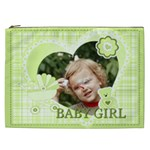 flower , kids, happy, fun, green - Cosmetic Bag (XXL)