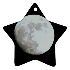 Moon Twin-sided Ceramic Ornament (Star) by LigerTees