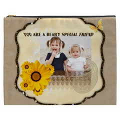Flower Of Kids, Love, Happy By Joely   Cosmetic Bag (xxxl)   Amtw114424zl   Www Artscow Com Front