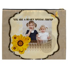Flower Of Kids, Love, Happy By Joely   Cosmetic Bag (xxxl)   Amtw114424zl   Www Artscow Com Back