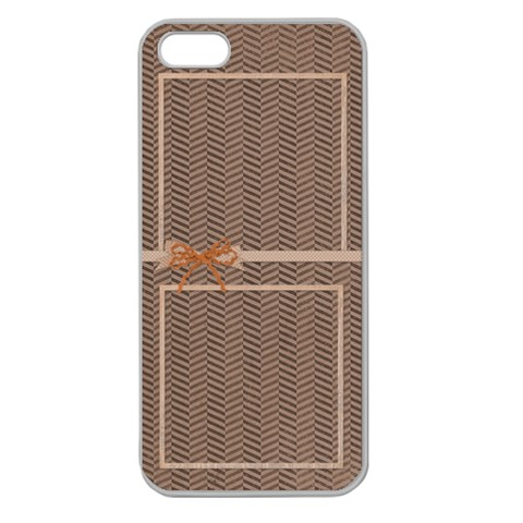 Shevron And Polka Dot Iphone 5 Case By Zornitza   Apple Seamless Iphone 5 Case (clear)   0ef25r18h0va   Www Artscow Com Front