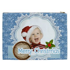 Merry Christmas, Xmas, Happy New Year  By Man   Cosmetic Bag (xxl)   K4ghq19r0i5o   Www Artscow Com Back