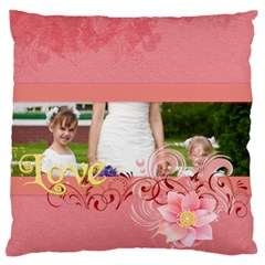 Love Of Kids By Man   Large Cushion Case (two Sides)   E6ncf73sfr2z   Www Artscow Com Back