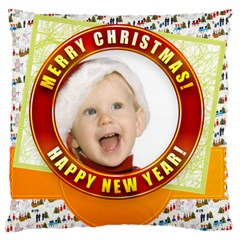 Merry Christmas, Xmas, Happy New Year  By Man   Large Cushion Case (two Sides)   0xe2ry5b8lvs   Www Artscow Com Front
