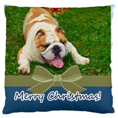 Merry Christmas, Xmas, Happy New Year  By Man   Large Cushion Case (two Sides)   6ihldvhbnx48   Www Artscow Com Back