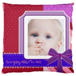 love, kids, happy, fun, family, holiday - Large Cushion Case (One Side)
