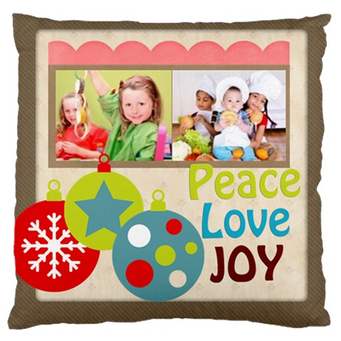 Merry Christmas, Happy New Year, Xmas By Mac Book   Large Cushion Case (one Side)   J29jea2r7oo8   Www Artscow Com Front