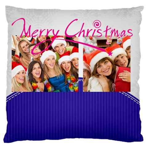 Merry Christmas, Happy New Year, Xmas By Mac Book   Large Cushion Case (one Side)   7ma4cpks1dxa   Www Artscow Com Front