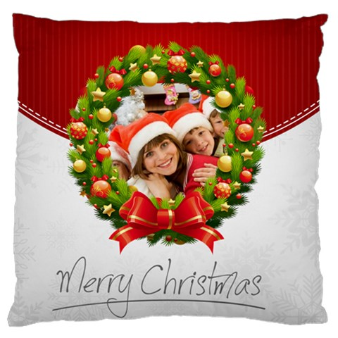 Merry Christmas, Happy New Year, Xmas By Mac Book   Large Cushion Case (one Side)   G2783cmltdz3   Www Artscow Com Front