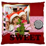 merry christmas, happy new year, xmas - Large Cushion Case (One Side)