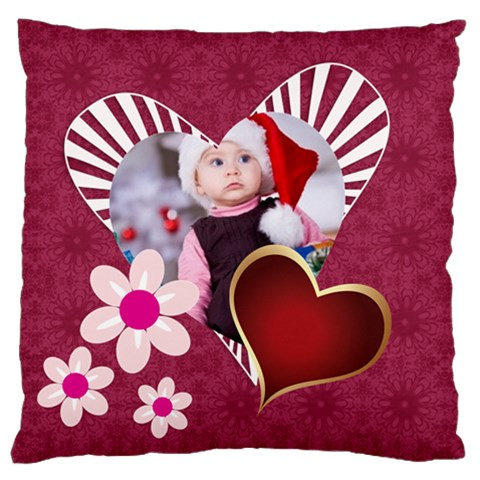 Merry Christmas, Happy New Year, Xmas By Mac Book   Large Cushion Case (one Side)   64ywqvni0l86   Www Artscow Com Front