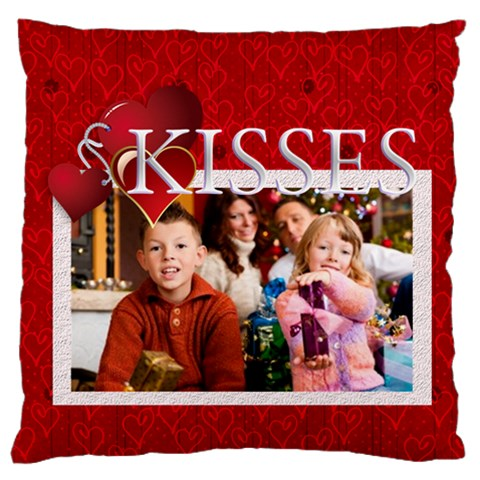 Love, Kids, Happy, Fun, Family, Holiday By Mac Book   Large Cushion Case (one Side)   P9mf8j23p8gf   Www Artscow Com Front