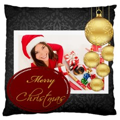Merry Christmas, Happy New Year, Xmas By Angena Jolin   Large Cushion Case (two Sides)   Yv6qb5zztkyi   Www Artscow Com Back