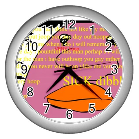 It s Time To Sick Dibble  By Ayaseasagi   Wall Clock (silver)   W1l8l90vmx20   Www Artscow Com Front