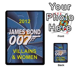 James Bond Ccg 2012: Villains And Women Part 2 By Geni Palladin   Multi Purpose Cards (rectangle)   Xr5p44zjv0m7   Www Artscow Com Back 54