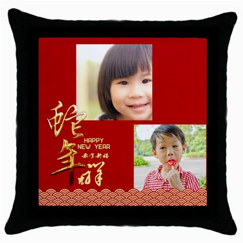 Chinese New Year By Gigi   Throw Pillow Case (black)   11zyjziv8ly0   Www Artscow Com Front