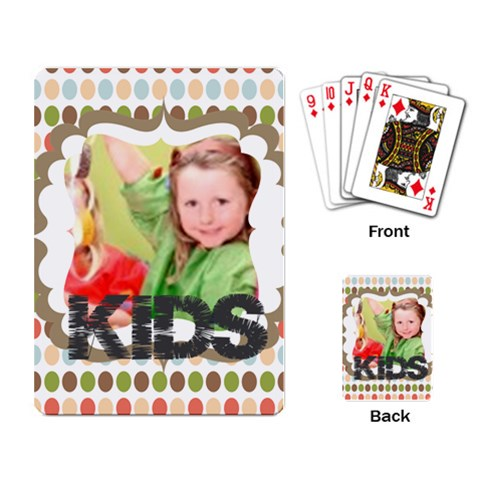 Flower , Kids, Happy, Fun, Green By Mac Book   Playing Cards Single Design   Zhokp0edn2wc   Www Artscow Com Back
