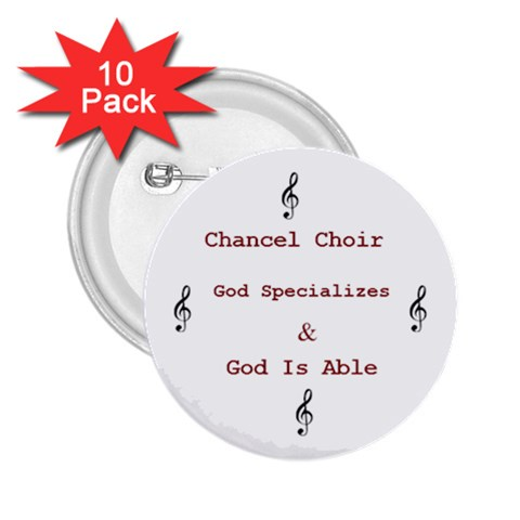 Chancel Choir Button By Sydney   2 25  Button (10 Pack)   9hmah9jpzllh   Www Artscow Com Front