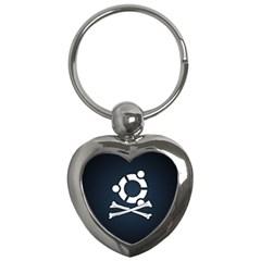Ubuntu Bone Key Chain (heart)