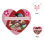love, kids, memory, happy, fun  - Playing Cards (Heart)