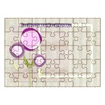 Green and Purple - Acrylic Jigsaw Puzzle (11.2  x 8 )