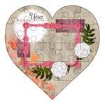 Love you more - Acrylic Heart Jigsaw Puzzle  (8  x 8 )