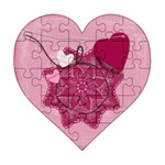 One Love - Acrylic Heart Jigsaw Puzzle  (6  x 6 )