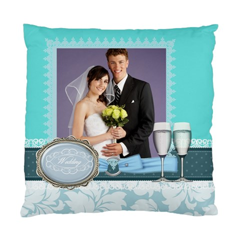 Wedding Of Blue By Paula Green   Standard Cushion Case (one Side)   Qjgc4uddxclt   Www Artscow Com Front