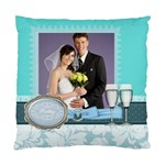 wedding of blue - Standard Cushion Case (One Side)