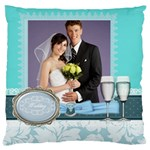 wedding of blue - Large Cushion Case (One Side)