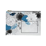 blue flowers bag - Cosmetic Bag (Large)