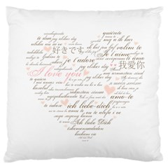 Love By Divad Brown   Large Cushion Case (two Sides)   828631c6mwj1   Www Artscow Com Front