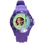 kids, love, family, happy, play, fun - Round Plastic Sport Watch Large