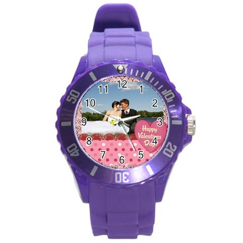 Love,memory, Happy, Fun  By Jacob   Round Plastic Sport Watch (l)   Xql3y36m3ni6   Www Artscow Com Front
