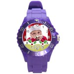 merry christmas, happy new year, xmas - Round Plastic Sport Watch Large