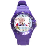 kids, fun, child, play, happy - Round Plastic Sport Watch (L)