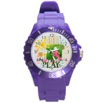 kids, fun, child, play, happy - Round Plastic Sport Watch Large