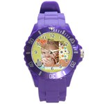 happy birthday - Round Plastic Sport Watch (L)