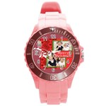 love - Round Plastic Sport Watch Large
