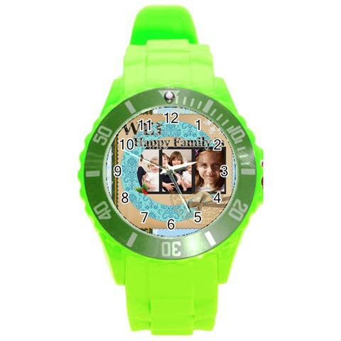 Love By Joely   Round Plastic Sport Watch (l)   Kv1kxc0t8uvd   Www Artscow Com Front