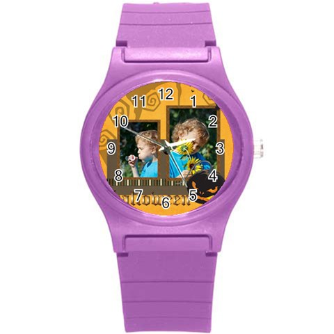 Kids, Love, Fun, Happy, Holiday,child, Love By Jacob   Round Plastic Sport Watch (s)   3glhvt2c9zqj   Www Artscow Com Front