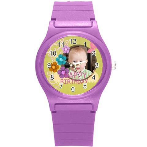 Kids, Love, Fun, Happy, Holiday,child, Love By Jacob   Round Plastic Sport Watch (s)   Uuaymq6mfssi   Www Artscow Com Front
