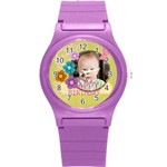 kids, love, fun, happy, holiday,child, love - Round Plastic Sport Watch (S)
