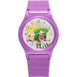 love, kids, happy, fun, family, holiday - Round Plastic Sport Watch (S)