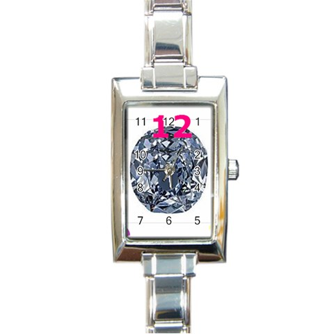 Almost Diamond By Riksu   Rectangle Italian Charm Watch   W1o4w0tyfy0r   Www Artscow Com Front