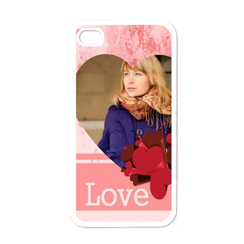 Love By Anita   Apple Iphone 4 Case (white)   Erazkc5rg7o9   Www Artscow Com Front
