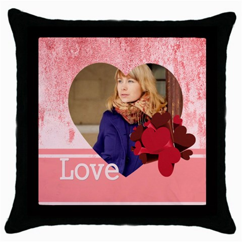 Love By Anita   Throw Pillow Case (black)   F16gu13rcdg5   Www Artscow Com Front