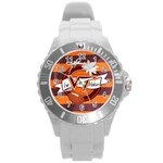 Large Sports Watch_VA Tech - Round Plastic Sport Watch (L)